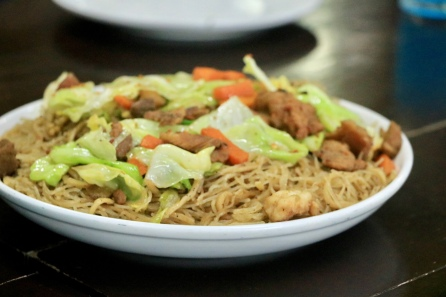 Pansit in Pico de Pino Cafe and Restaurant in Tanay, Rizal, Philippines